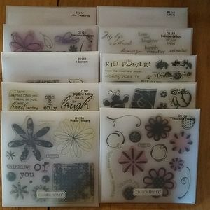 10 BUNDLE Close to My Heart Acrylic Stamp Sets